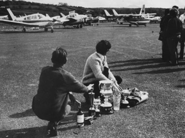 Getting prizes ready for the Air Rally in 1972.