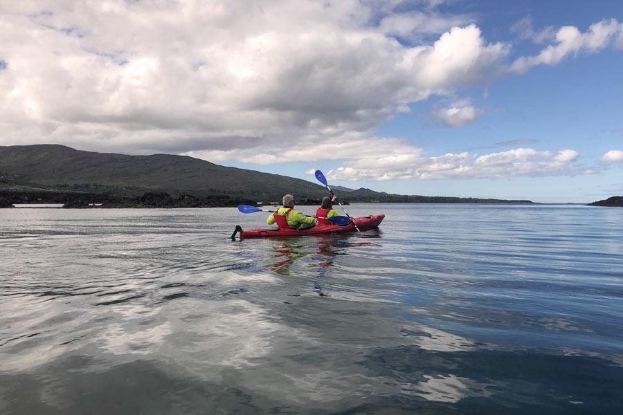 Kayak dans la baie de Kenmare