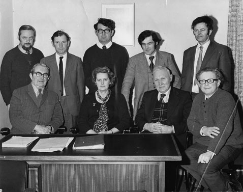The first meeting of the new Airport Board of Directors in January 1975.