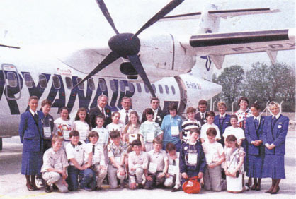 Ryanair's first flight to Luton on May 23, 1989.