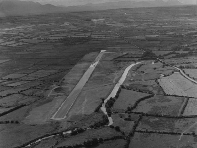 View of the runway in the early 70s.